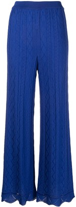 M Missoni Flared Knitted Trousers
