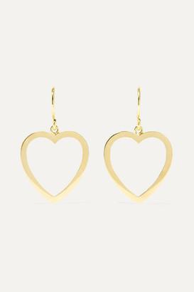 Jennifer Meyer Open Heart 18-karat Gold Earrings
