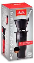 Melitta Pour-Over Coffee Brewer with Travel Mug in Black