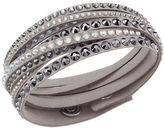 Swarovski Crystal-Accented Layered Bracelet in Grey