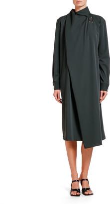 Bottega Veneta Liquid Gabardine Shift Dress