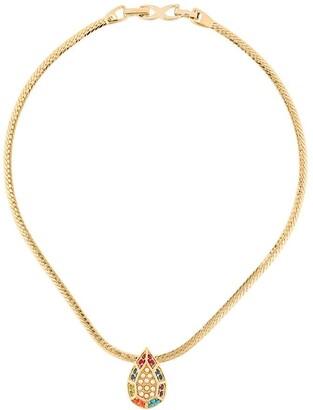 Susan Caplan Vintage 1980's D'Orlan tear drop necklace