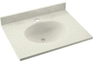 "Swan Ellipse Solid Surface 25"" Single Bathroom Vanity Top Top Finish: Tahiti Matrix"
