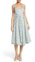 Milly Women's Bambino Palm Print Midi Dress