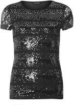 Dorothy Perkins **Tall Black Sequin Lace T-Shirt