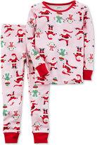 Carter's 2-Pc. Santa-Print Cotton Pajama Set, Baby Girls (0-24 months)