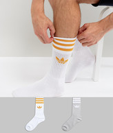 adidas 2 Pack Crew Socks In Multi Bq5973