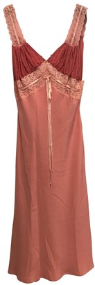 Ohne Titel Pink Silk Dress for Women