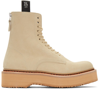R 13 Beige Single Stack Boots