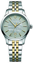 Victorinox 241753 Alliance Women's Bracelet Strap Watch, Silver/Gold