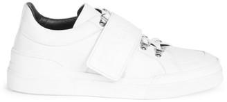 Balmain Low Hiker Strap Leather Sneakers