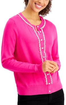 Charter Club Beaded Button Cardigan, Created for Macy's
