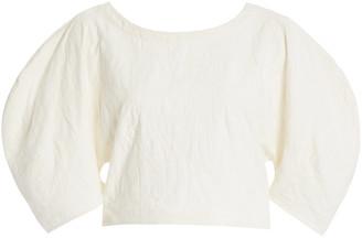 Mara Hoffman Peni Organic Cotton-Linen Cropped Top