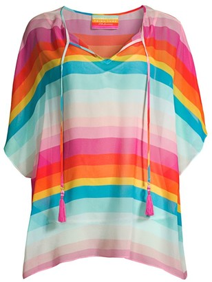 Trina Turk Sobe Striped Silk Top