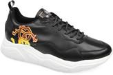 Roberto Cavalli Men's Side-Logo Leather Low-Top Sneakers
