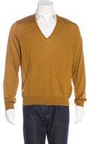 Dries Van Noten Wool & Silk V-Neck Sweater