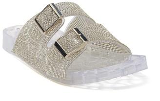 Wild Diva Lounge Amar Rhinestone Embellished Slide Sandal