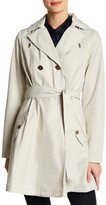 Laundry by Shelli Segal Hooded Flared Trench Coat
