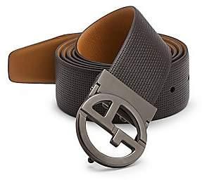 Emporio Armani Men's Plate Leather Belt