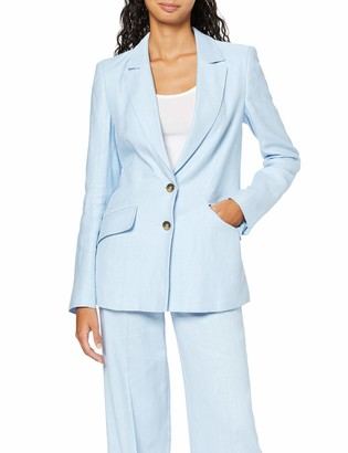 Find. Amazon Brand Women's Longline Linen Blazer