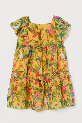 H&M Patterned chiffon dress
