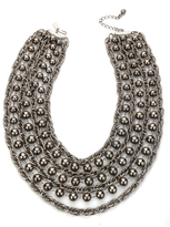 Tuleste Market Layered Ball & Chain Necklace, Gunmetal