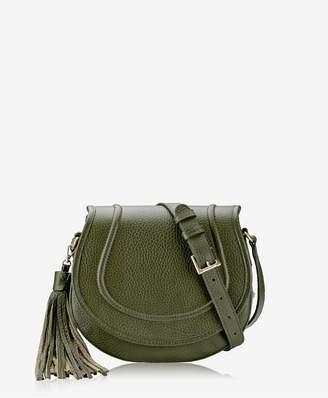 GiGi New York Jenni Saddle Bag In Moss Pebble Grain