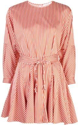 Derek Lam 10 Crosby Long Sleeve Striped Godet Skirt Dress