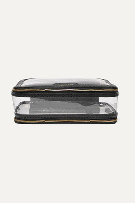 Anya Hindmarch In-flight Leather-trimmed Pvc Cosmetics Case - Black