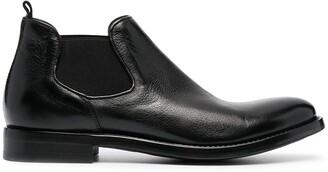 Alberto Fasciani leather Chelsea boots