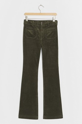 Pilcro And The Letterpress Pilcro High-Rise Patch Pocket Bootcut Cord Jeans