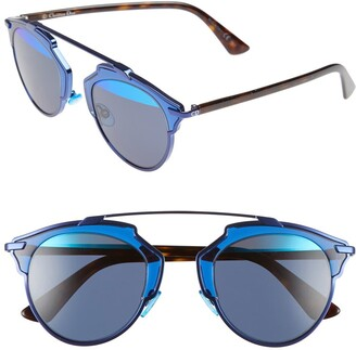 Christian Dior So Real 48mm Brow Bar Sunglasses