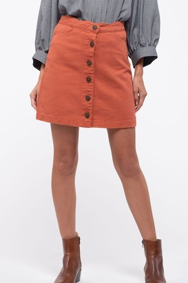 Blu Pepper Scalloped Denim Mini Skirt