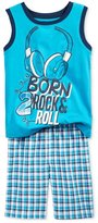 Nannette Boys Rock & Roll 2-Piece Tank Top Set