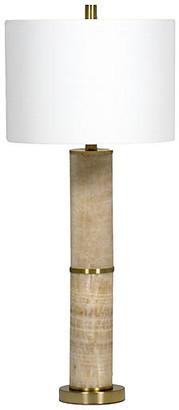 Solomon Marble Table Lamp - Gold/Brass - Gabby