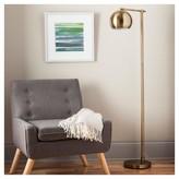 Threshold Modern Globe Floor Lamp Brassy Gold