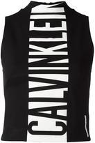 Calvin Klein Jeans logo print tank top - women - Polyamide/Spandex/Elastane/Viscose - S