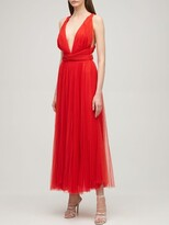 Thumbnail for your product : Maria Lucia Hohan Pleated Tulle Midi Dress W/ Low Back