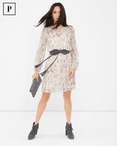 White House Black Market Petite Geo-Print Boho Dress