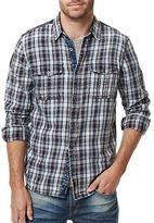 Buffalo David Bitton Woven Plaid Sport Shirt