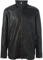 Diesel Black Gold zipped leather jacket