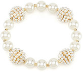 Anne Klein Faux-Pearl Stretch Bracelet