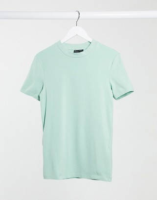 ASOS DESIGN organic muscle fit t-shirt in gray blue