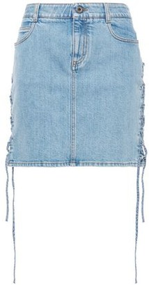 Stella McCartney Lace-up Denim Mini Skirt