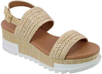 Top Moda Women's Sandals BEIGE/RAFFIA - Beige raffia Double-Strap Danika Sandal - Women