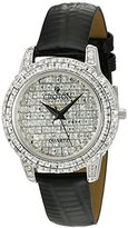 Croton Women's CN207544BSPV Analog Display Quartz Black Watch