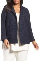 Eileen Fisher Plus Size Women's Crosshatch Jacquard Jacket