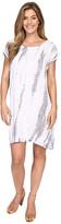Allen Allen Tie-Dye Short Caftan Dress