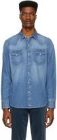 Ralph Lauren Purple Label Blue Denim Magic Western Shirt