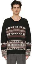 Maison Margiela Reverse Wool & Cotton Jacquard Sweater